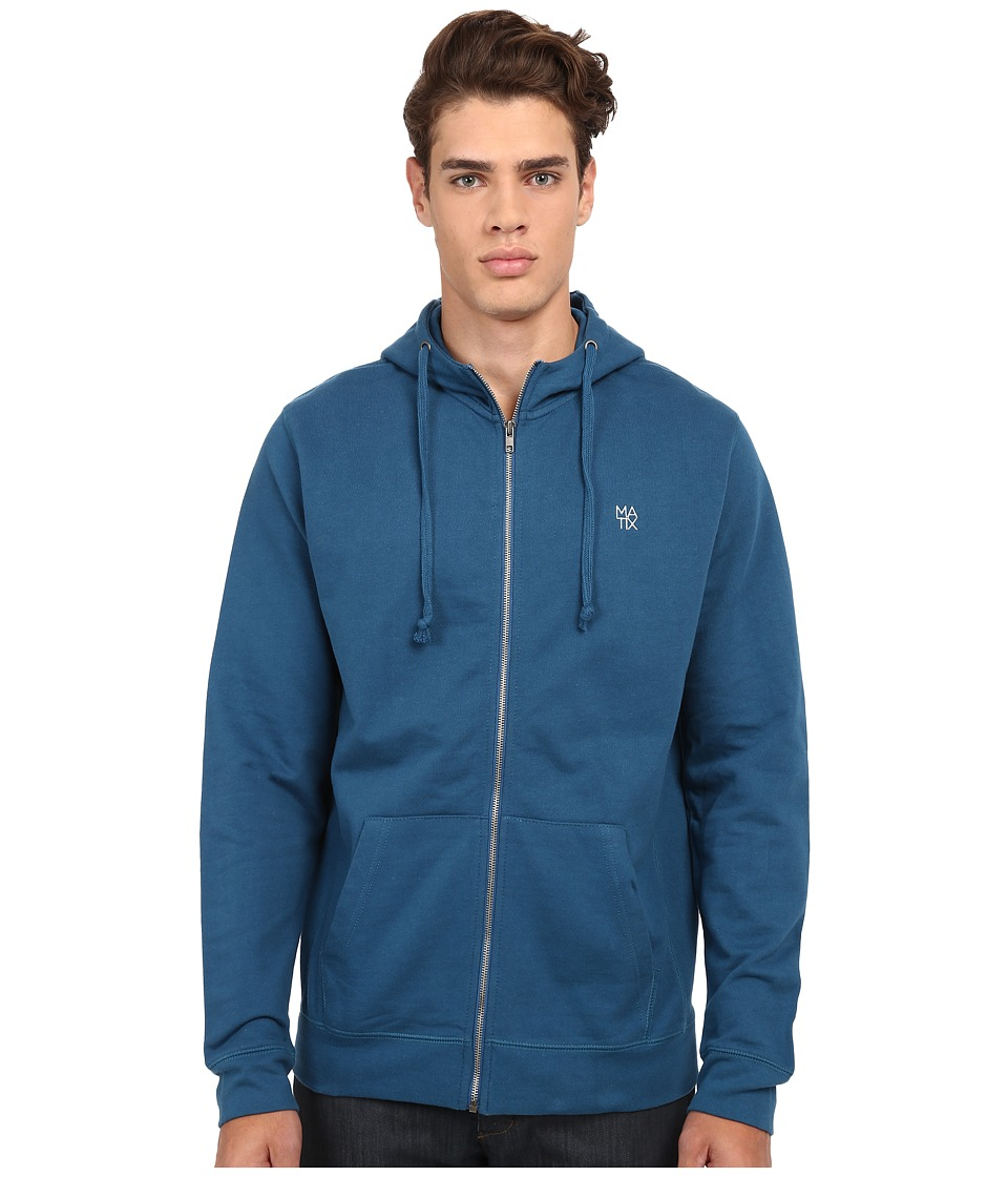 Matix Clothing Company - Monostack Zip Fleece (Indigo) Men's Sweatshirt