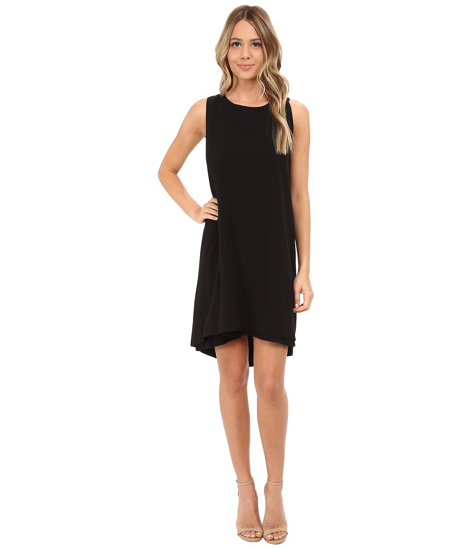 BB Dakota - Kenna High-Low Hem Crepe Dress (Black) Women's Dress