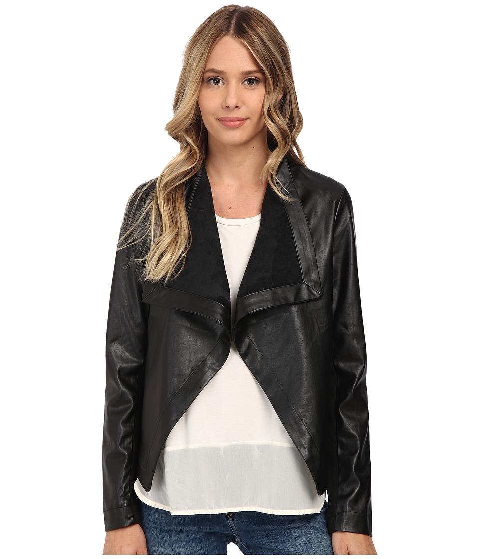 BB Dakota - Brody Drapey Jacket (Black) Women's Coat
