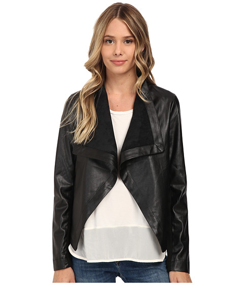 BB Dakota - Brody Drapey Jacket (Black) Women's Coat