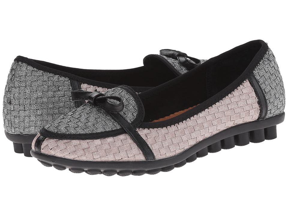 bernie mev. - Leah (Nude Metallic/Pewter) Women's Flat Shoes