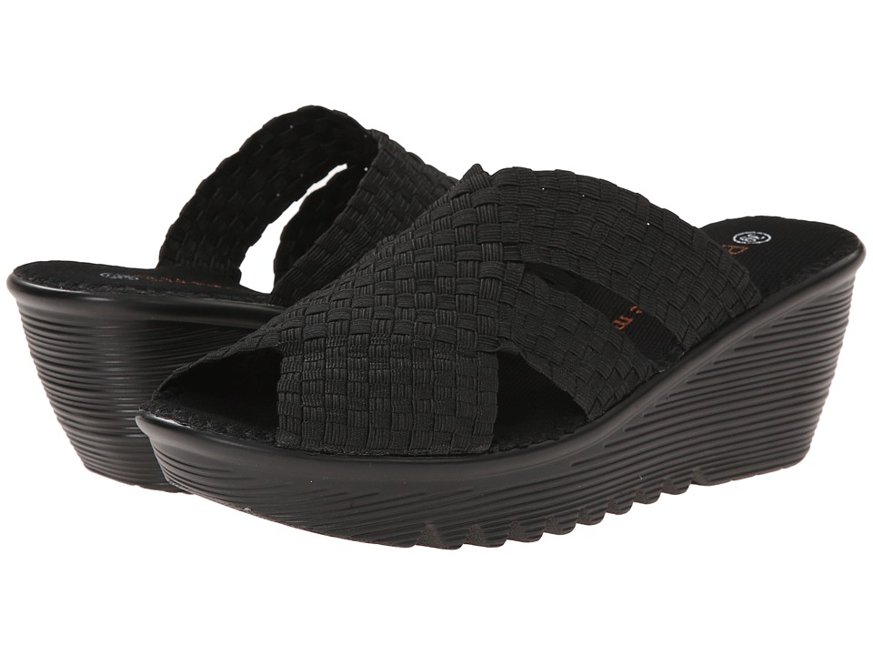 bernie mev. - Lori (Black) Women's Wedge Shoes