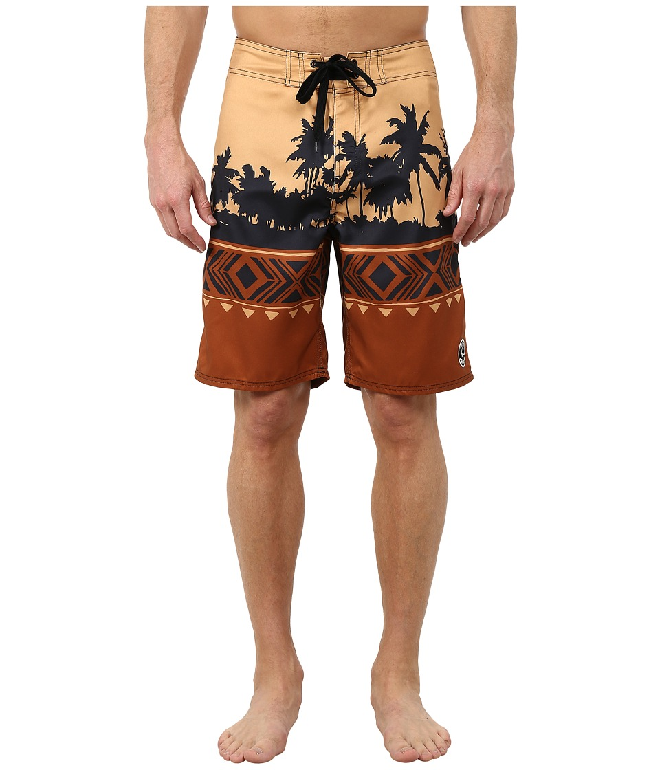 Life is good - Bold Coast Boardshorts (Rustic Copper) Men's Swimwear