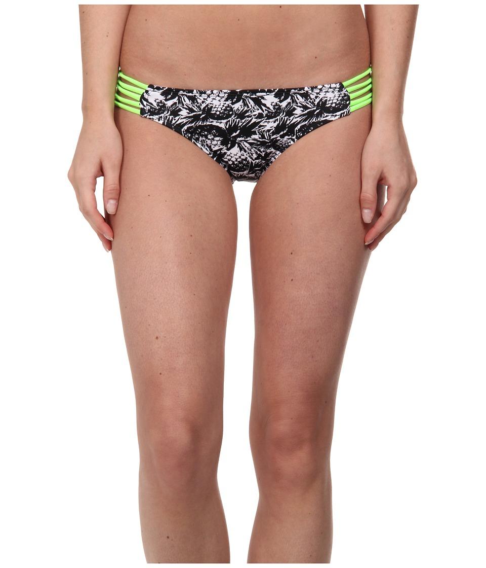 Hurley - Pineapple Block Spider Side Swimwear Bottom (Black) Women's Swimwear