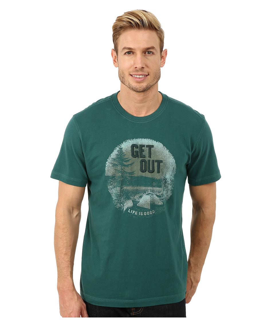 Life is good - Creamy Tee (Hunter Green) Men's T Shirt