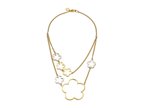 Marc by Marc Jacobs - Diamonds and Daisies Mid Tier Necklace (Argento Multi) Necklace