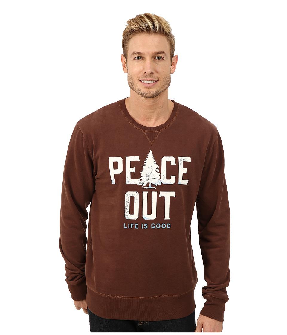 Life is good - Go-To Crew Neck Shirt (Chestnut Brown) Men