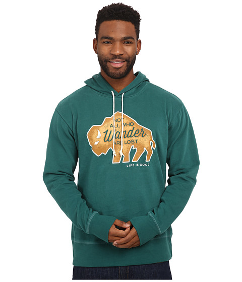Life is good - Go-To Hoodie (Hunter Green 1) Men's Sweatshirt
