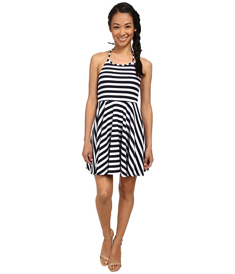 MINKPINK - Just Waiting Halter Dress (Navy/White) Women