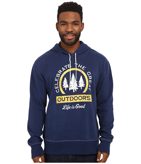 Life is good - Go-To Hoodie (Darkest Blue 1) Men's Sweatshirt