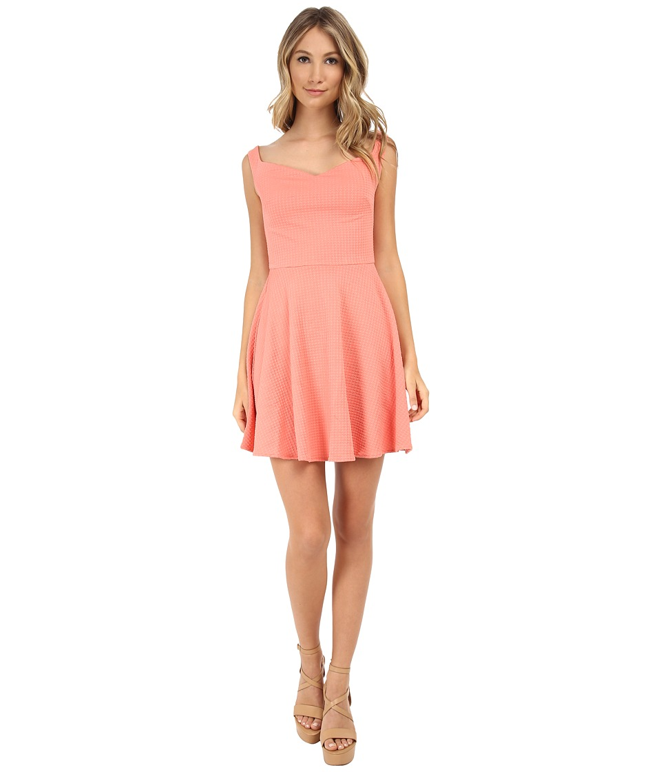MINKPINK - Sweetheart Dress (Coral Orange) Women's Dress