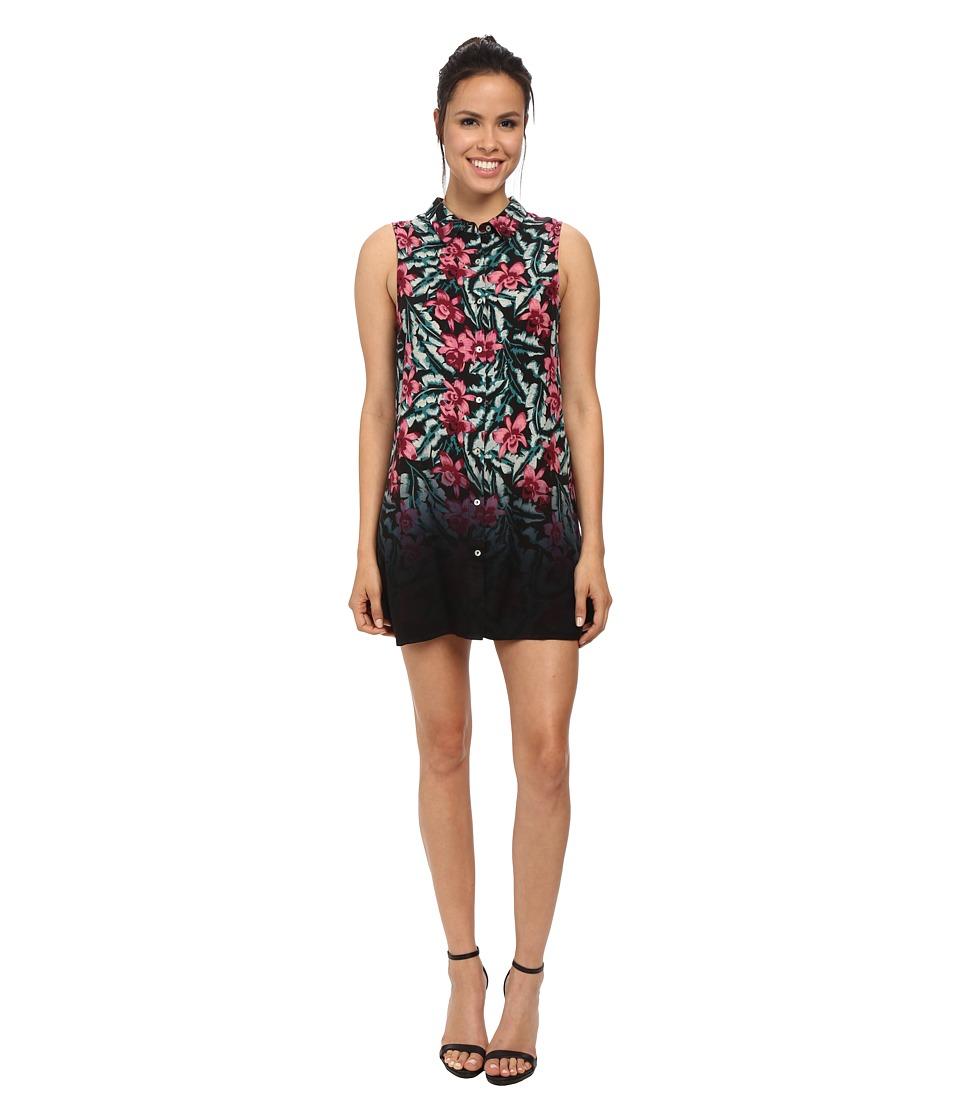 MINKPINK - Sundown Jungle Shirt Dress (Multi) Women