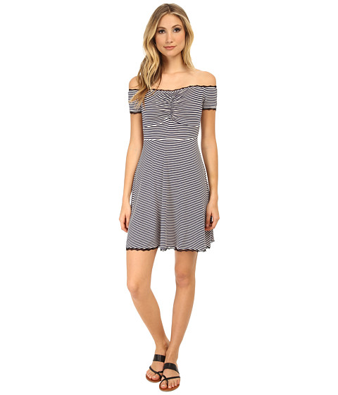 MINKPINK - My Fair Madeline Dress (Navy/White) Women's Dress