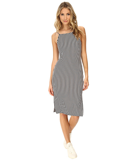 MINKPINK - Stealing Harvard Midi Dress (Black/White) Women