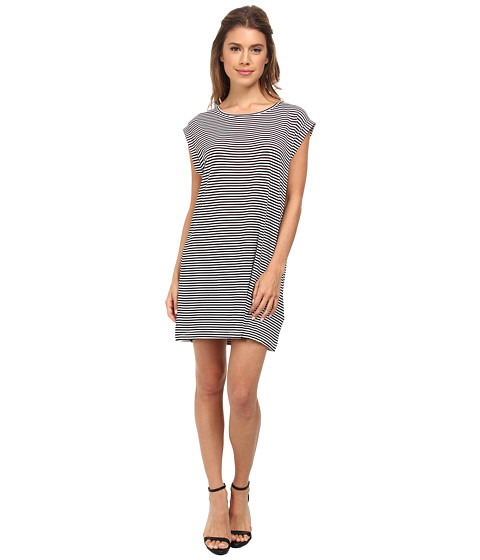 MINKPINK - Thin Stripe Tank Dress (Navy/White) Women