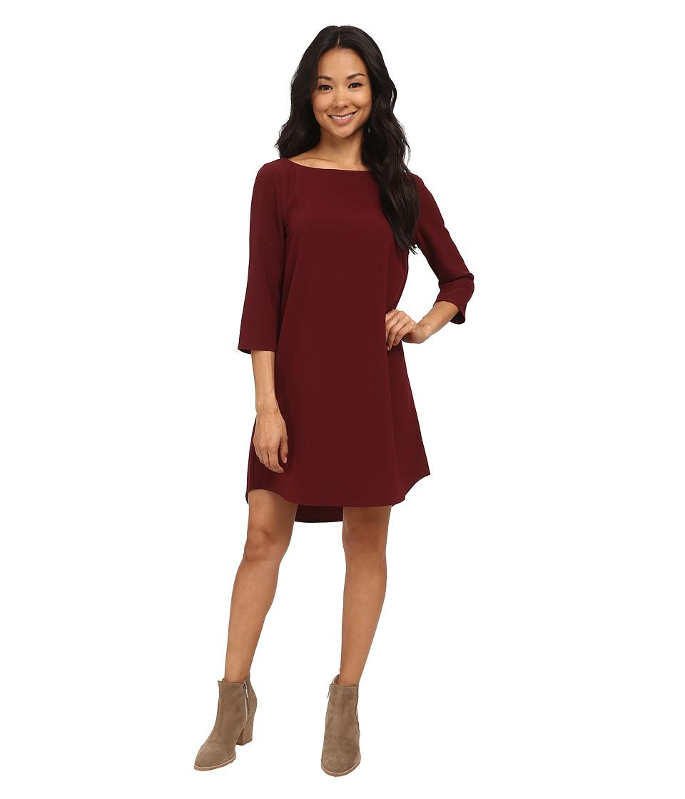 UPC 884986729915 product image for BB Dakota - Devin Long Sleeve Crepe Shift  Dress (Wine ... 4aa9864d7