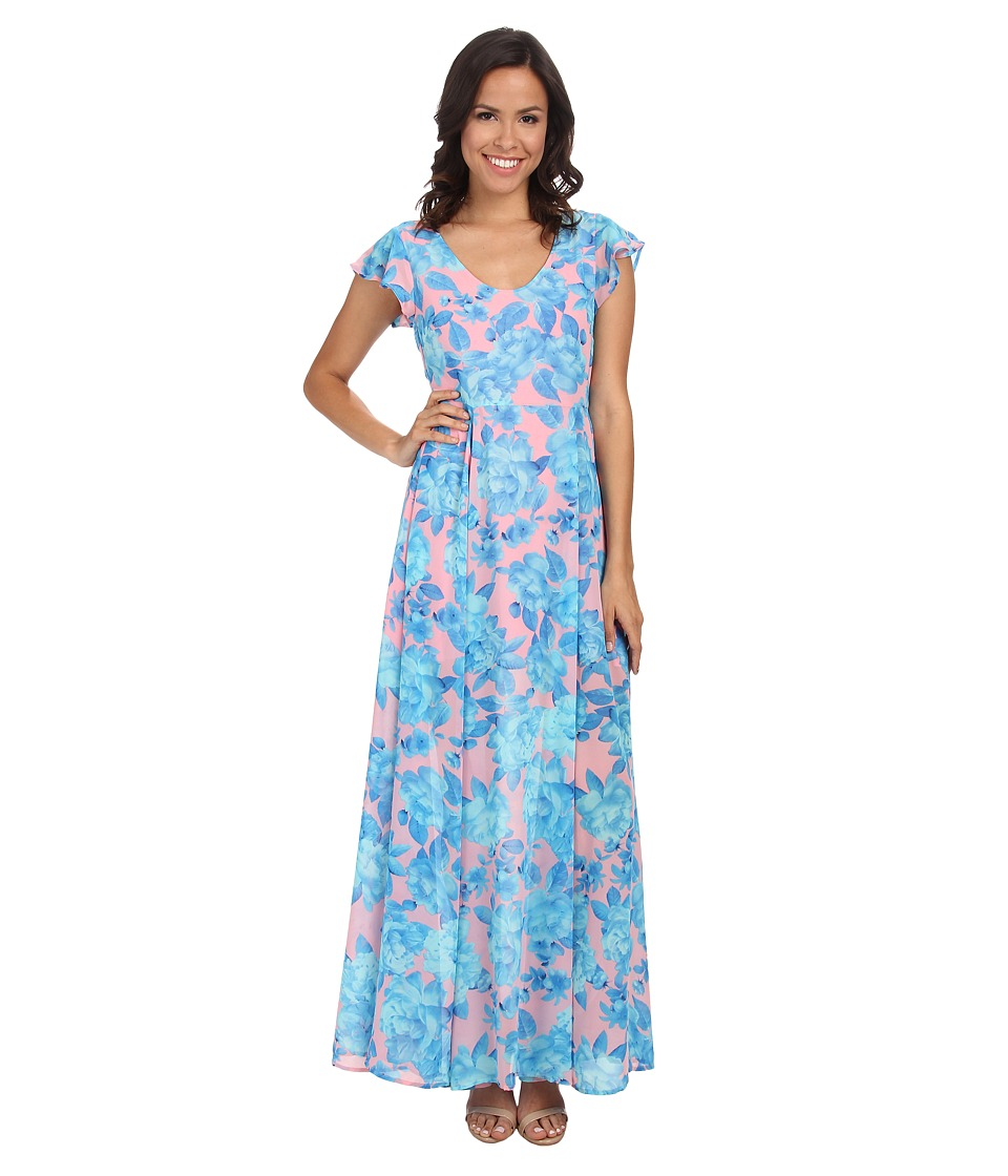 MINKPINK - Bubblegum Blossom Maxi Dress (Multi) Women's Dress