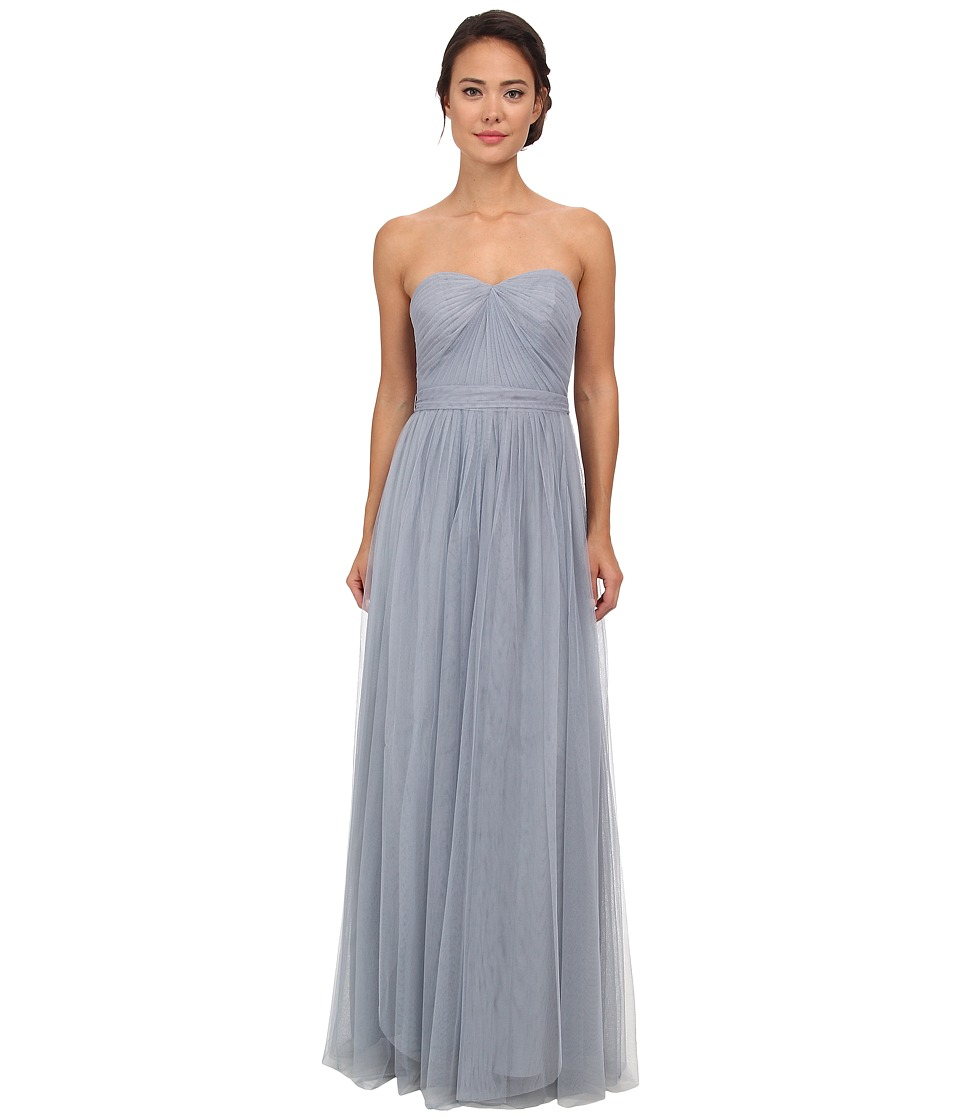 Adrianna Papell - Strapless Tulle Convertible Gown (Slate) Women's Dress