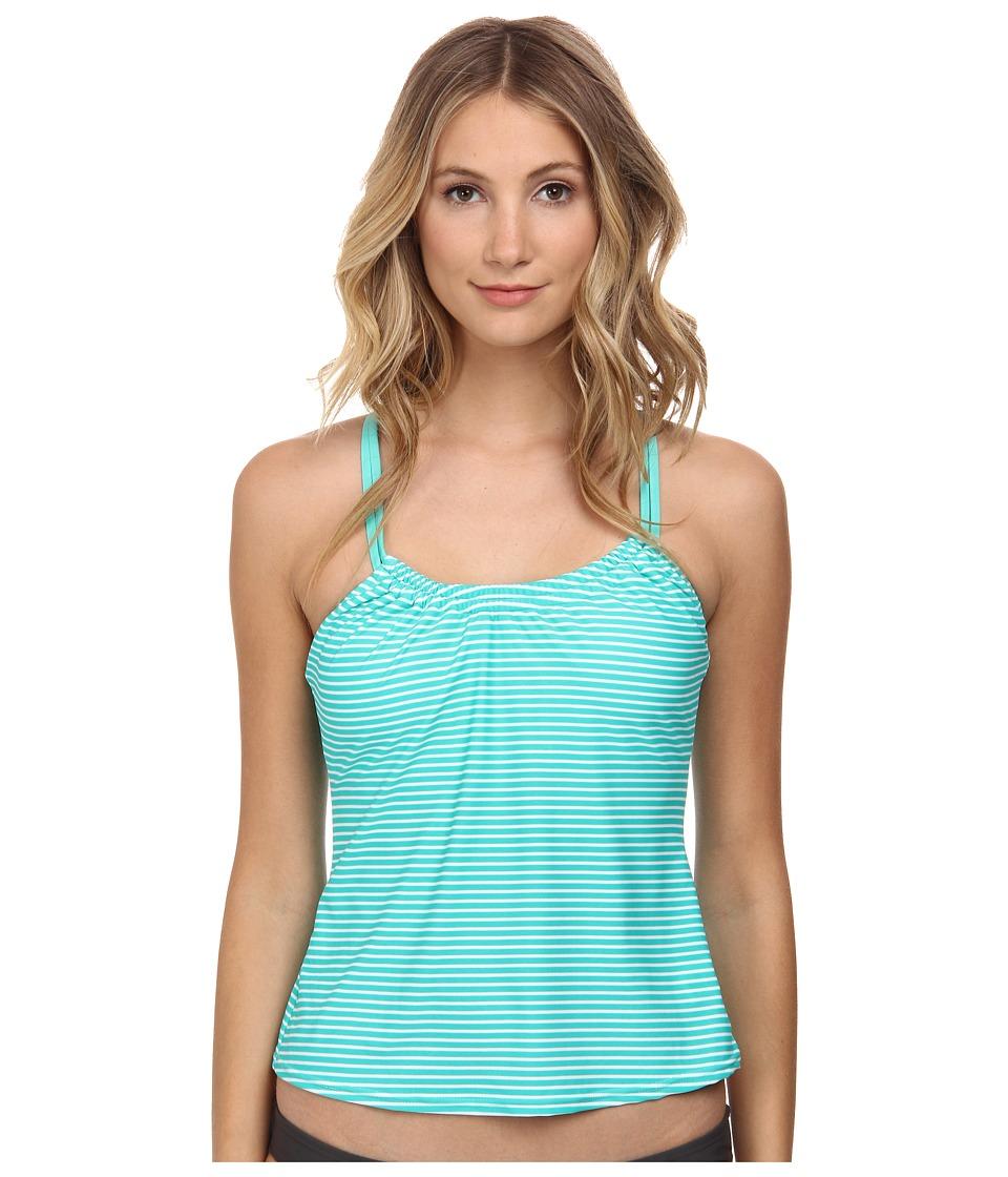 Next by Athena - Between Lines Tankini Swimwear Top (Green) Women's Swimwear