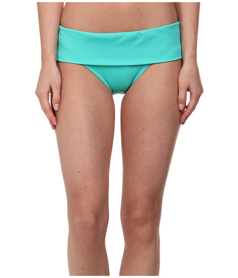 Next by Athena - Solid Banded Retro Swimwear Bottom (Green) Women's Swimwear