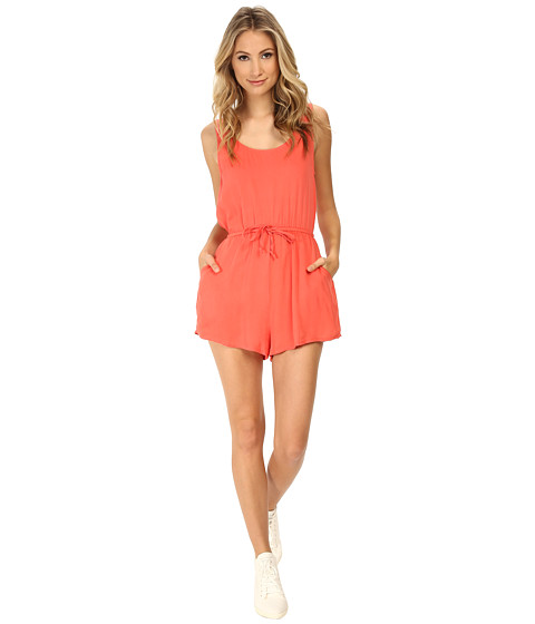 MINKPINK - Plain Tank Playsuit (Coral) Women's Jumpsuit & Rompers One Piece