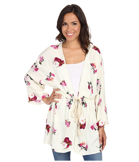 MINKPINK - Pink Petals Kimono (Multi) Women's Clothing