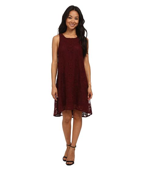 BB Dakota - Cadence Embroidered Lace Dress (Wine) Women's Dress
