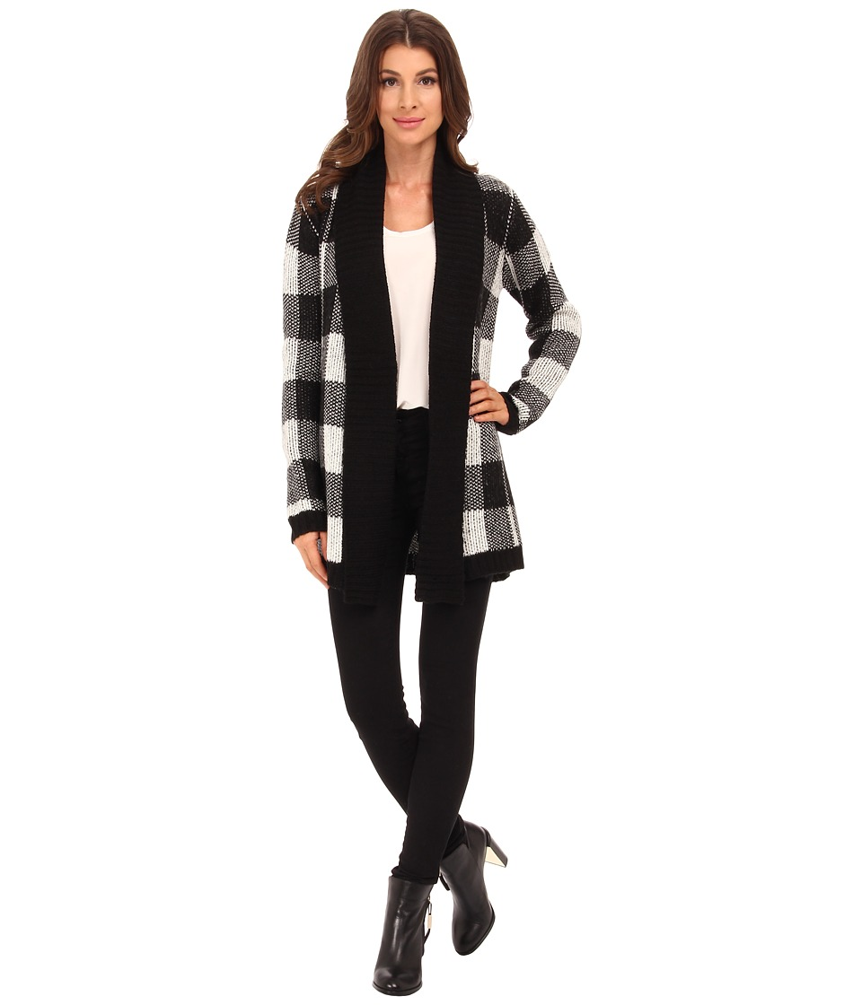 BB Dakota - Jalen Buffalo Plaid Cardigan (Oatmeal) Women