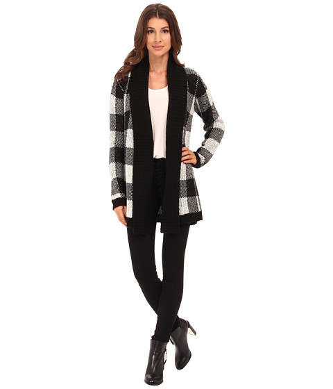 BB Dakota - Jalen Buffalo Plaid Cardigan (Oatmeal) Women's Sweater