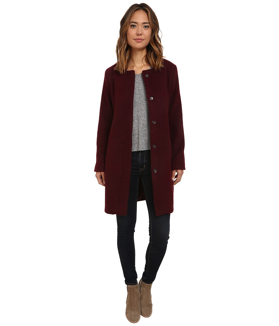 BB Dakota - Regan Brushed Wool Blend Coat (Wine) Women's Coat