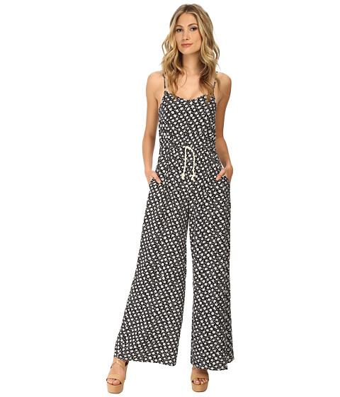 MINKPINK - Ditty Floral Jumpsuit (Black) Women's Jumpsuit & Rompers One Piece
