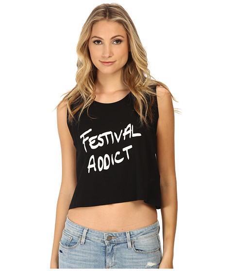 MINKPINK - Festival Addict Tank Top (Black) Women's Sleeveless