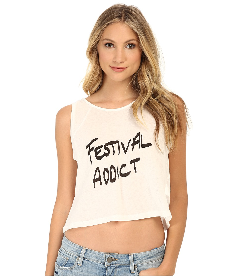 MINKPINK - Festival Addict Tank Top (White) Women's Sleeveless
