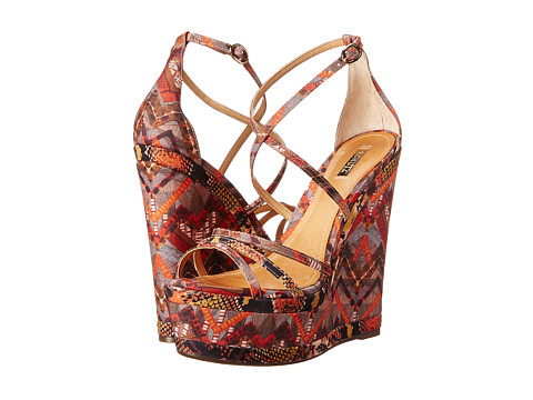 Schutz - Ernia (Spicy Orange) Women's Wedge Shoes