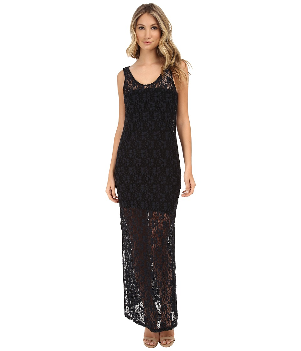 MINKPINK - Dancing in The Dark Maxi Dress (Black) Women's Dress