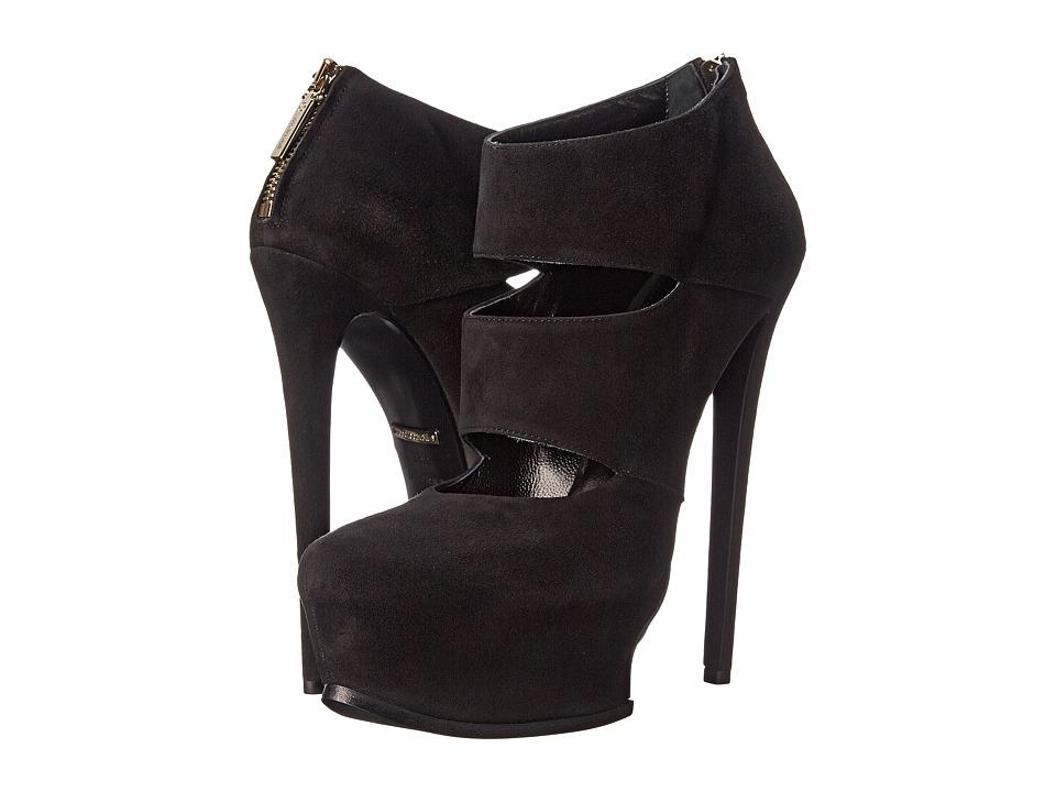 Roberto Cavalli - Suede Geisha Heel (Black) Women