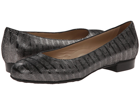 Ron White - Enza (Pewter Stripe Metallic Suede) Women