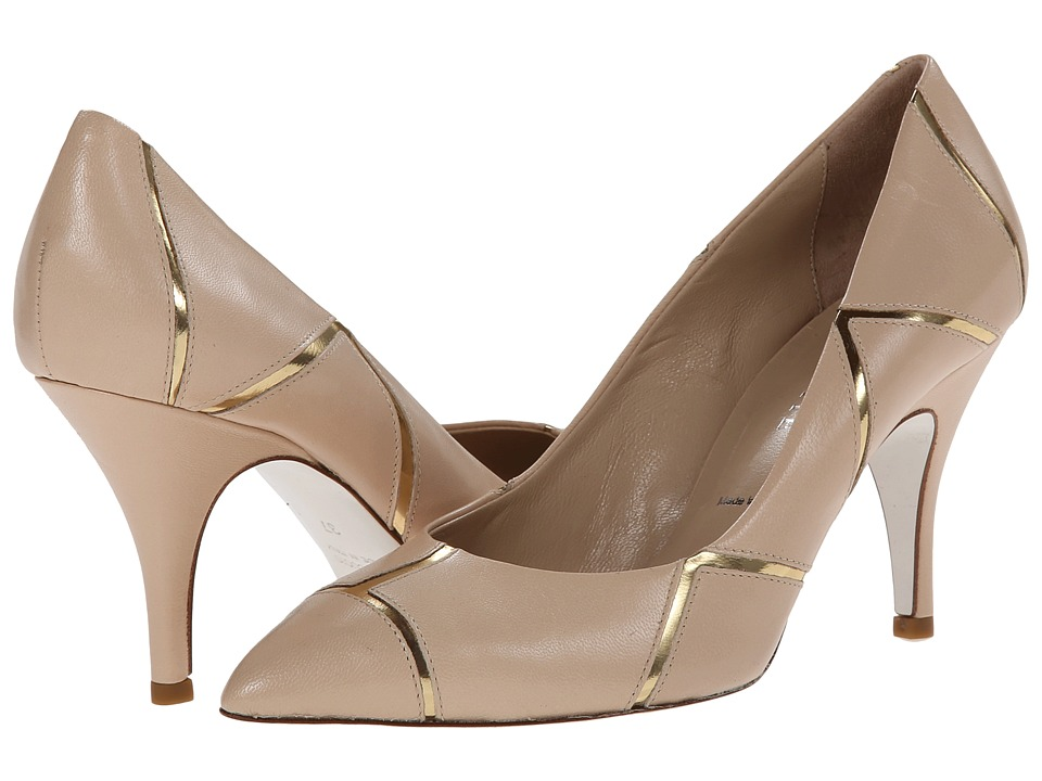 Ron White - Cheryl (Nude/Gold Nappa/Mirror) High Heels