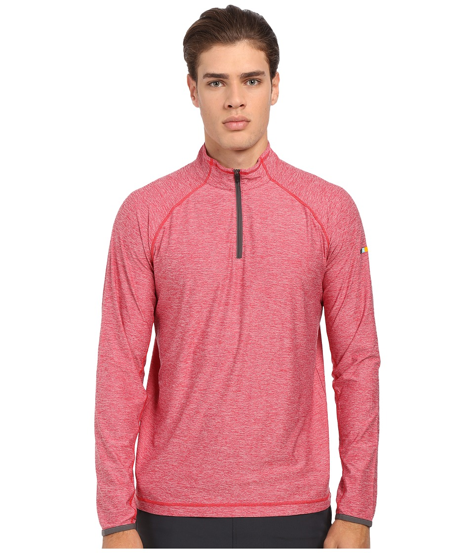 Soybu - Continuum 1/2 Zip (Brick) Men's Long Sleeve Pullover