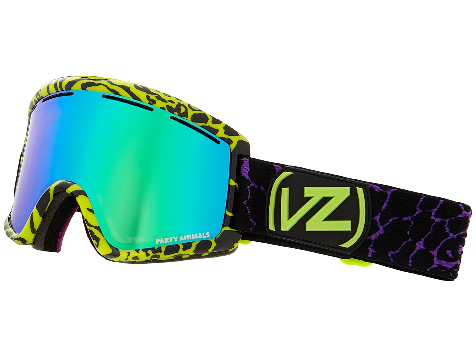 VonZipper - Cleaver (Party Animals Black Lime/Quasar Chrome) Snow Goggles
