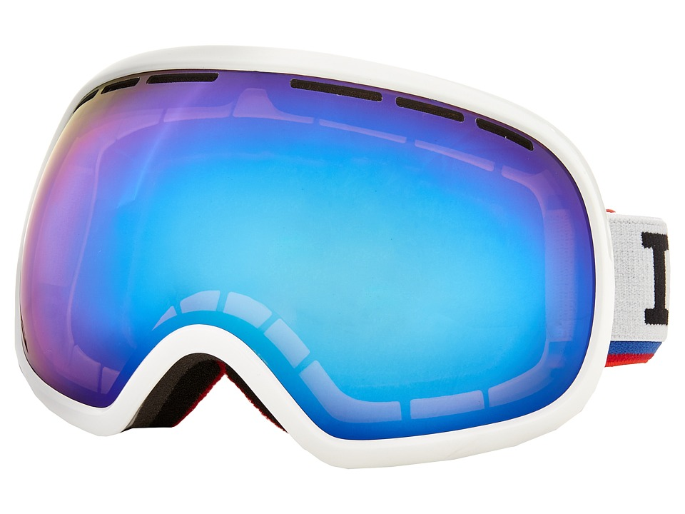VonZipper - Fishbowl (White Gloss/Sky Chrome) Snow Goggles