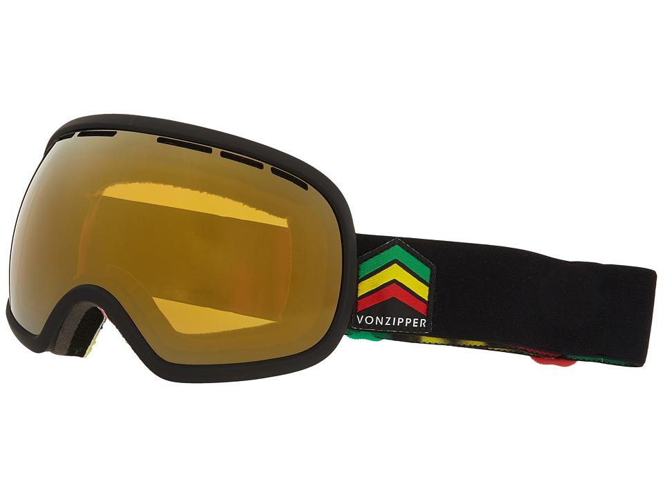 VonZipper Fishbowl (Black Satin/Copper Chrome) Snow Goggles