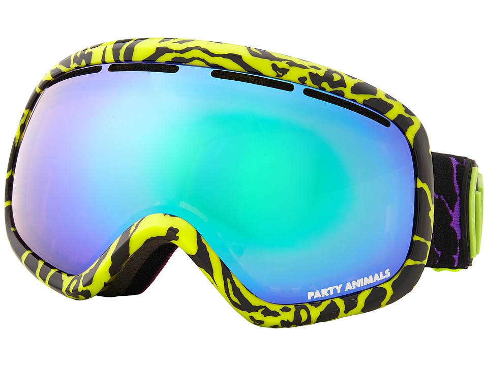 VonZipper - Skylab (Party Animals Lime/Quasar Chrome) Snow Goggles