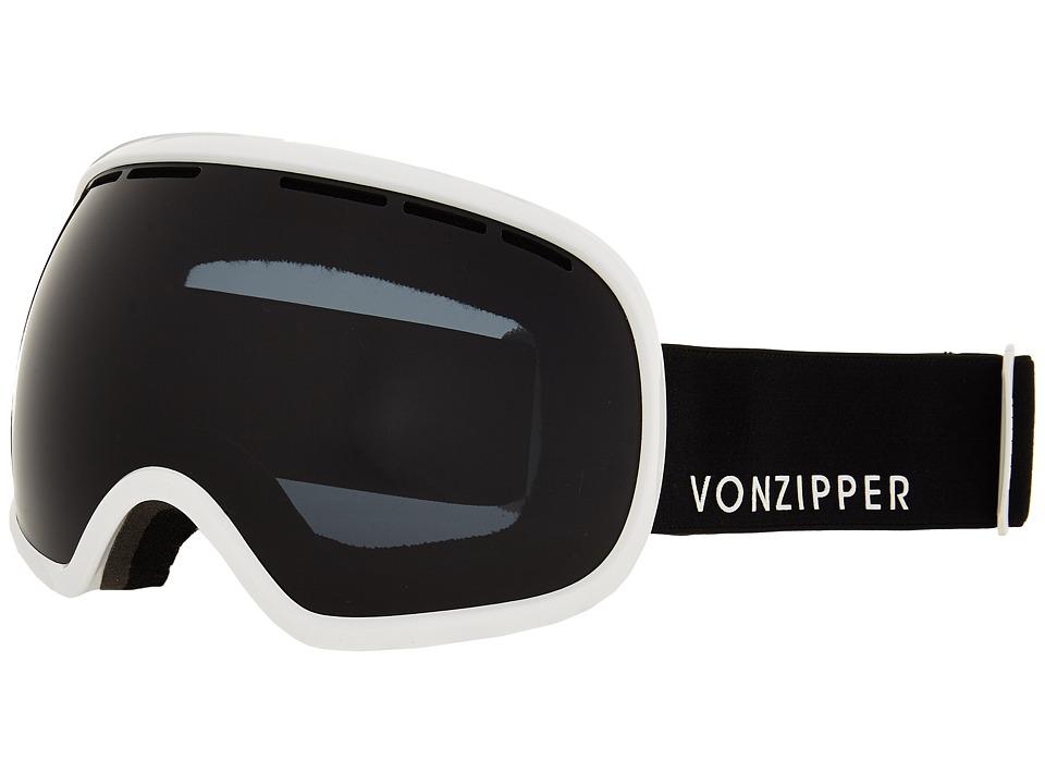VonZipper - Fishbowl (White Gloss/Blackout) Snow Goggles