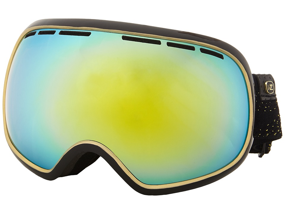 VonZipper - Fishbowl (Black Gold/Gold Chrome) Snow Goggles