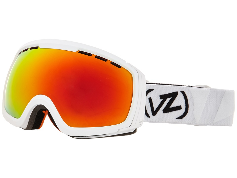 VonZipper - Feenom - N.L.S. (White Satin/Fire Chrome 1) Snow Goggles