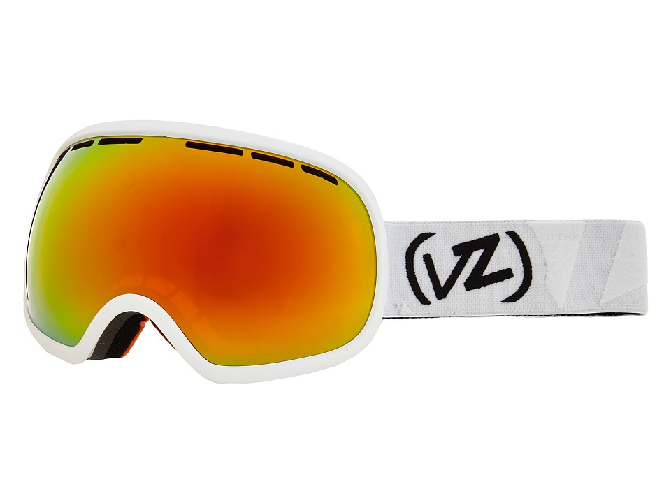 VonZipper - Fishbowl (White Satin/Fire Chrome 1) Snow Goggles
