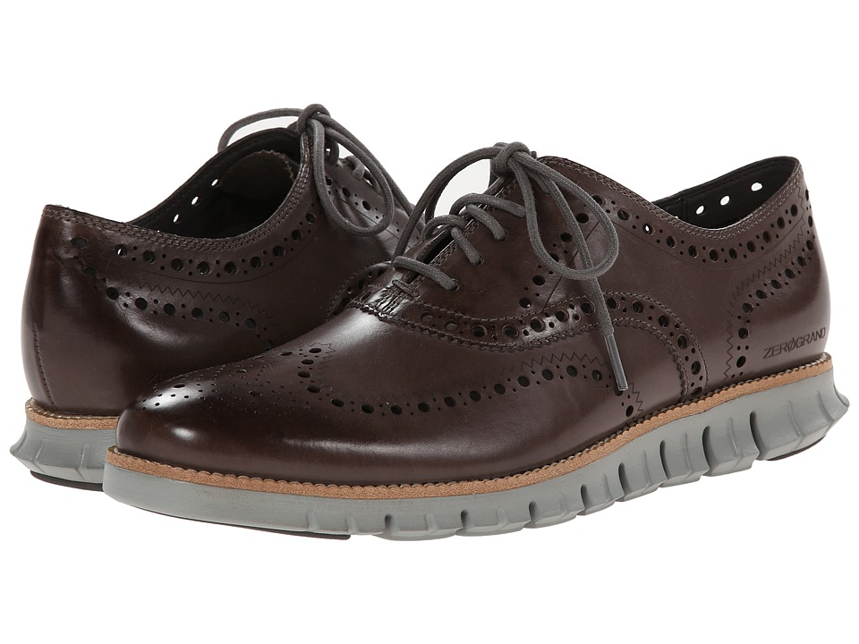 Cole Haan - Zerogrand Wing Ox (Pewter) Men's Lace Up Wing Tip Shoes