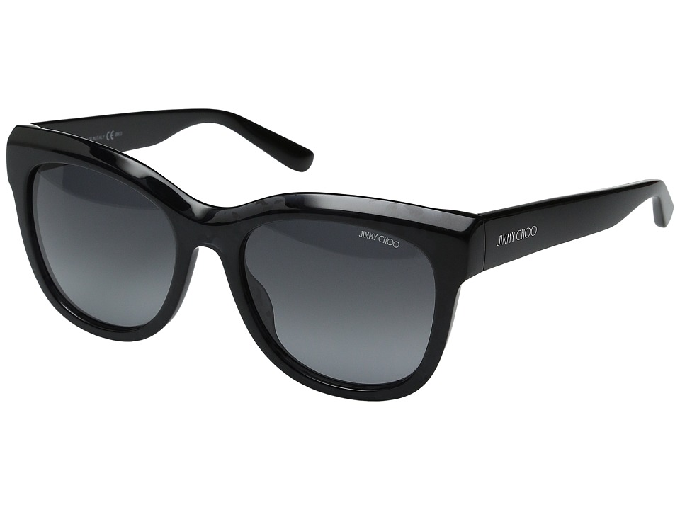 Jimmy Choo - Nuria/S (Black Spotted/Gray Gradient) Fashion Sunglasses