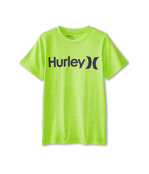 Hurley Kids - One Only Tee (Big Kids) (Key West Green Heather) Boy